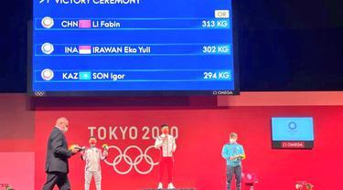 Eko Yuli Irawan sumbangkan medali perak untuk Indonesia di ajang Olimpiade Tokyo. FotoKBRI Tokyo
