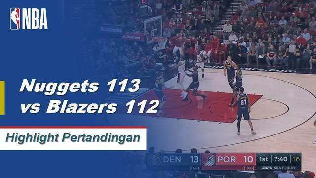 Gary Harris mencetak 27 poin, Paul Millsap menambahkan 22 poin dan 10 rebound membawa Denver mengalahkan Portland