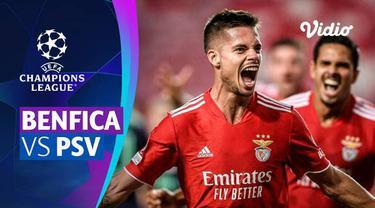 Berita video mini match leg I babak playoffs Liga Champions 2021/2022 antara Benfica melawan PSV Eindhoven yang berakhir dengan skor 2-1, Kamis (19/8/2021) dinihari WIB.