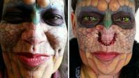 Seorang transgender asal Bruni, Texas, Amerika Serikat bernama Eva Tiamat Medusa, mengaku dirinya bukan lagi manusia melainkan Naga (Sumber foto: News.com.au)
