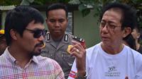 Petinju asal Filipina, Manny Pacquiao menjalani syuting di lereng gunung Merapi (Fathi Mahmud)