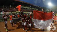 Persipura Jayapura menutup turnamen dengan kemenangan 4-2 atas tamunya PSM Makassar di Stadion Mandala, Minggu (18/12/2016) sore WIB. (PT GTS)