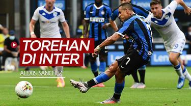 Berita video torehan bintang yang baru saja dilepas Manchester United, Alexis Sanchez, di Inter Milan pada musim 2019-2020.