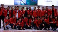 Tim Indonesia yang akan tampil di Kejuaaran Dunia Junior Bulutangkis 2016 di Bilbao, 2-13 November 2016. (PBSI)