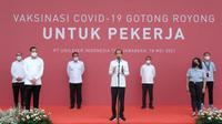 Isi Pesan Presiden Joko Widodo saat Meninjau Peresmian Program Vaksinasi Gotong Royong di pabrik Unilever Indonesia/dok. Unilever