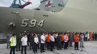 Konferensi Pers terkait penghentian operasi SAR Sriwijaya Air SJ 182. (Foto: Muhammad Radityo/Liputan6.com)