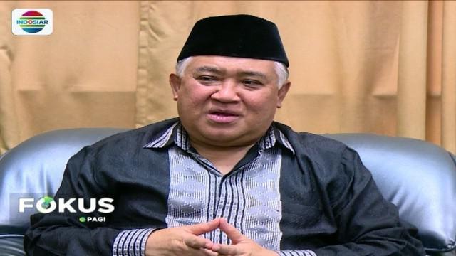 Soal fenomena orang gila serang pemuka agama, Din Syamsuddin meminta agar masyarakat tidak terprovokasi.