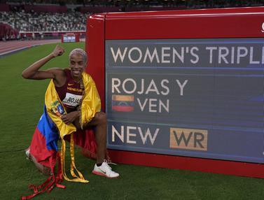 FOTO: Atlet Venezuela Pecahkan Rekor Dunia Lompat Jangkit yang Bertahan 26 Tahun
