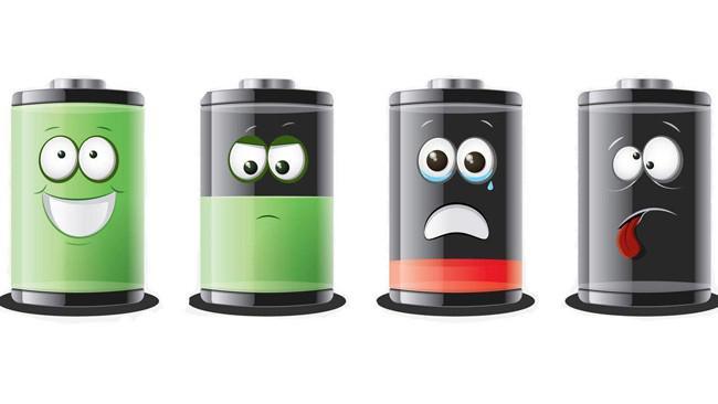 Ilustrasi baterai android