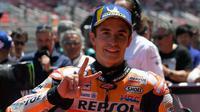 Pembalap Repsol Honda Marc Marquez juara MotoGP Katalunya. (AFP/Lluis Gene)