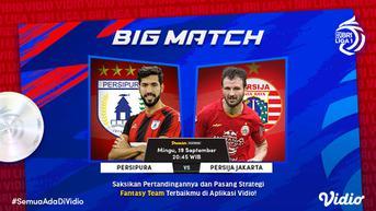 Sedang Main di Vidio, Link Live Streaming BRI Liga 1 Minggu, 19 September 2021: Big Match Persija Jakarta vs Persipura Jayapura