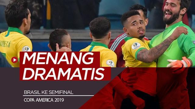 Berita video highlights perempat final Copa America 2019 antara Brasil melawan Paraguay yang berakhir dengan adu penalti dengan skor 4-3 di Arena do Gremio, Porto Alegre, Kamis (27/6/2019).