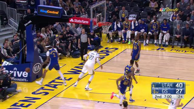 Berita Video Highlights NBA 2019-2020, Utah Jazz Vs Golden State Warriors 129-96