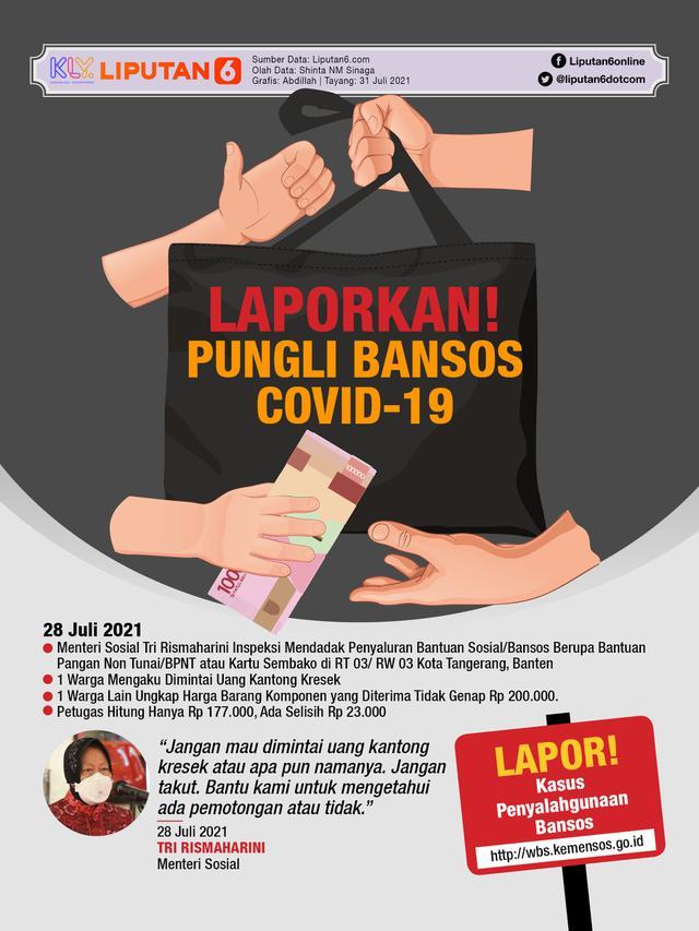 Infografis Laporkan Pungli Bansos Covid-19 (Liputan6.com/Abdillah)