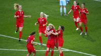 Timnas Wanita Amerika Serikat (AS) menang 13-0 atas Thailand pada babak penyisihan grup F Piala Dunia Wanita 2019 (AP Photo/Francois Mori)