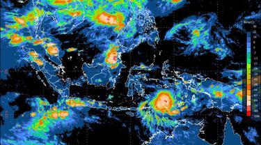Bibit siklon tropis terpantau berada di Laut Banda sebelah selatan Maluku.