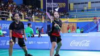Ganda putri Indonesia, Siti Fadia Silva Ramadhanti/Ribka Sugiarto, di SEA Games 2019. (PBSI)