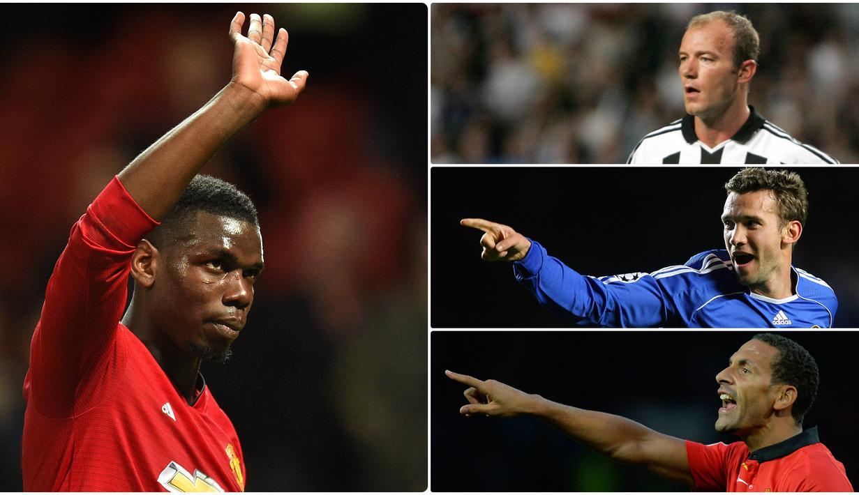 Paul Pogba menjadi pemain dengan transfer termahal di Liga Inggris. Namun, siapakah pemilik transfer termahal jika diurut berdasarkan inflasi nilai mata uang. Berikut 10 transfer pemain termahal di Liga Inggris berdasarkan inflasi nilai mata uang. (kolase foto AFP)