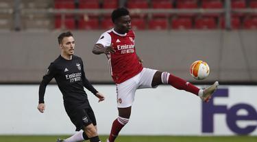 FOTO: Menang 3-2, Arsenal Singkirkan Benfica - Bukayo Saka; Alex Grimaldo