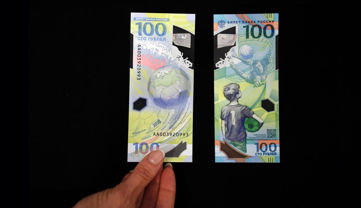 FOTO Rusia Terbitkan Uang Kertas Edisi Khusus Piala Dunia