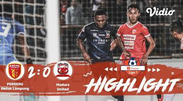 Babak Penyisihan #ShopeeLiga1 yang mempertemukan #Perseru Badak Lampung vs #Madura United pada hari Rabu (27/11/2019) berakhir den...