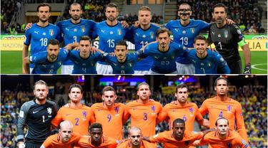 Negara unggulan tak serta merta mudah lolos ke Piala Dunia. Banyak hal tak terduga terjadi yang membuat negara tersebut gagal tampil di ajang terbesar emapt tahunan tersebut. (Kolase foto-foto AFP)