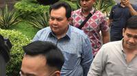Ruben Onsu menjalani pemeriksaan di Mapolda Metro Jaya.