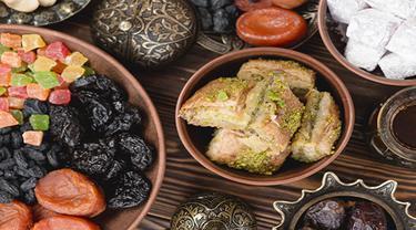 Ilustrasi makanan khas lebaran