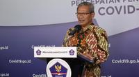 Juru Bicara Pemerintah untuk Penanganan COVID-19 di Indonesia, Achmad Yurianto saat konferensi pers Corona di Graha BNPB, Jakarta, Rabu (3/6/2020). (Dok Badan Nasional Penanggulangan Bencana/BNPB)