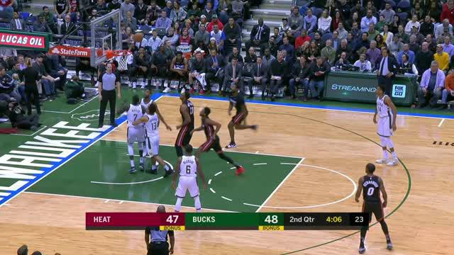 Berita video game recap NBA 2017-2018 antara Miami Heat melawan Milwaukee Bucks dengan skor 106-101.