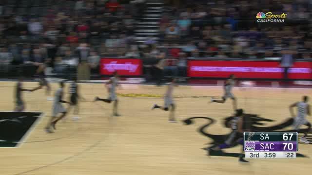 Willie Cauley-Stein mendapat 13 poin, 13 rebound double-double untuk mengalahkan Spurs 104-99