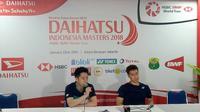 Kevin Sanjaya/Marcus Gideon mengaku sempat kesulitan pada gim pertama Indonesia Masters 2018. (Bola.com/Budi Prasetyo Harsono)