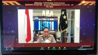 Wakapolri Komjen Gatot Eddy Pramono membacakan sambutan Kapolri Jenderal Idham Azis pada Penutupan Pendidikan Sespimti Polri Dikreg ke-29 dan Sespimmen Polri Dikreg ke-60 TA 2020 di Gedung Utaryo Suryawinata Sespim Lemdiklat Polri, Kamis (22/10/2020).