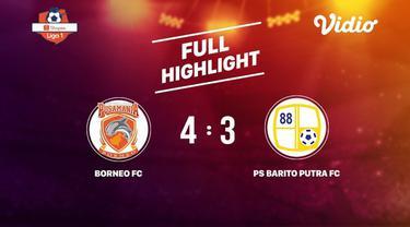 Berita video highlights Shopee Liga 1 2019 antara Borneo FC melawan Barito Putera yang berakhir dengan skor 4-3, Kamis (18/7/2019).