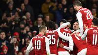 Meski terpuruk, Arsenal bisa selalu jadi batu sandungan buat Manchester City (Glyn KIRK/AFP)