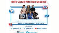 BRI menjalin kolaborasi dengan Narasi dan Kitabisa.com, Senin (23/08/2021) untuk memajukan UMKM di Indonesia yang terdampak pandemi COVID-19 agar bisa kembali bangkit serta membantu menjalankan kembali roda pereknomian di Iindonesia