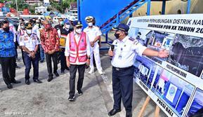 Menteri Perhubungan Budi Karya Sumadi pada Sabtu (25/9) meninjau sejumlah sarana dan prasarana infrastruktur transportasi di Jayapura dan Merauke