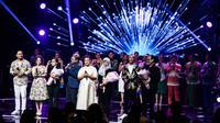 All artis saat konser Erros Chrisye Yockie: Tembang Persada Sang Tritunggal di Jakarta