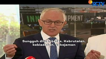 Banyak tokoh bersimpati atas rangkaian aksi teror bom di Surabaya, Jawa Timur. Salah satunya dari Perdana Menteri Australia Malcolm Turnbull.