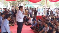 Menteri Kelautan dan Perikanan Edhy Prabowo melakukan kunjungan kerja perdana ke Pelelangan Ikan Muara Angke, Jakarta, pada Senin (28/10/2019).