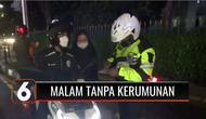Hari pertama malam tanpa kerumunan atau crowd free night, selama berlakunya Operasi Patuh Jaya 2021, Satuan Lalu Lintas Polres Tangerang Selatan menutup akses jalan utama Alam Sutera, Serpong Utara, Kota Tangerang Selatan.