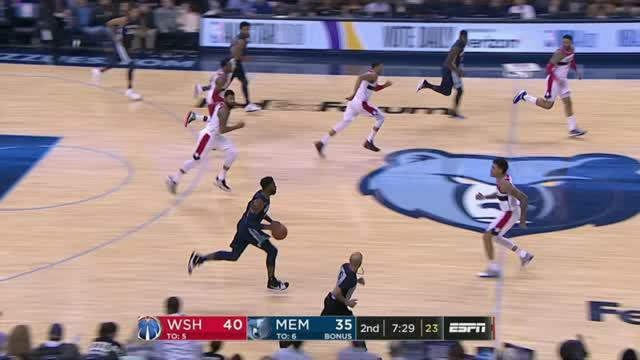 Berita video game recap NBA 2017-2018 antara Washington Wizards melawan Memphis Grizzlies dengan skor 102-100.