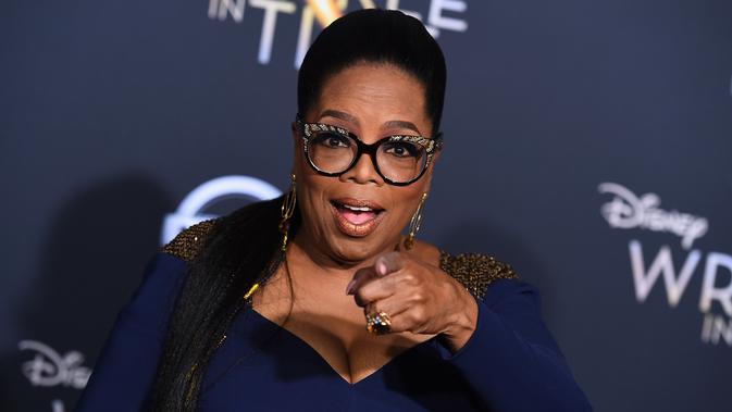 Aktris sekaligus presenter, Oprah Winfrey menghadiri premier film