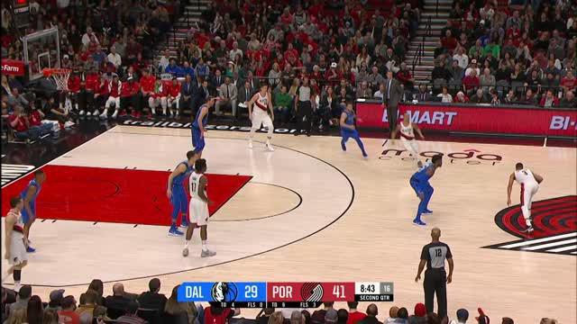 Berita video game recap NBA 2017-2018 antara Dallas Mavericks melawan Portland Trail Blazers dengan skor 108-117.
