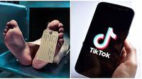 Ilustrasi meninggal dan Aplikasi TikTok (Sumber: iStockphoto)