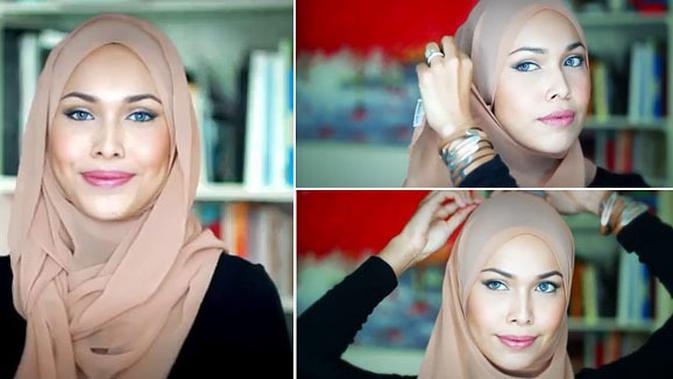 Tutorial Hijab Sederhana Dan Praktis Membuat Anda Semakin Cantik Beauty Fimela Com