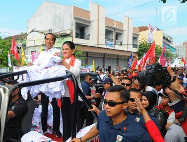 Didampingi Iriana, Jokowi Kampanye di Banyumas