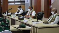 Ketua Satgas COVID-19 Ganip Warsito saat rapat koordinasi penanganan COVID-19 di Kantor Gubernur Aceh, Banda Aceh, Sabtu (28/8/2021). (Dok BNPB)