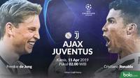 Liga Champions Ajax Vs Juventus Head to Head (Bola.com/Adreanus Titus)