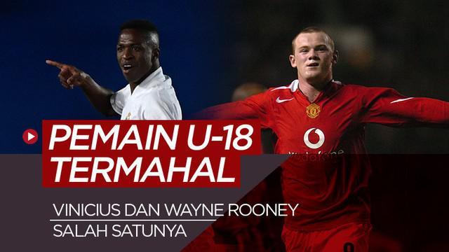 Berita motion grafis 5 pemain U-18 termahal sepanjang sejarah, didominasi pemain Manchester United dan Real Madrid.